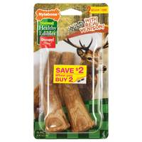 Nylabone Healthy Edibles Antler Venison Flavored Dog Treat Bones from Blain's Farm and Fleet