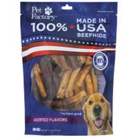 Pet Factory USA Flavored Beefhide Mini Rolls Assortment from Blain's Farm and Fleet