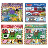 Melissa & Doug Chunky Puzzle (3723/3722/3725) Assortment from Blain's Farm and Fleet
