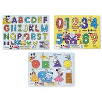 Melissa & Doug Disney Peg Puzzle Assortment from Blain's Farm and Fleet
