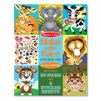 Melissa & Doug Make-A-Face Crazy Animals Sticker Pad from Blain's Farm and Fleet