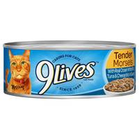 9 Lives Tender Morsels with Real Ocean Whitefish, Tuna & Cheese Bits Cat Food from Blain's Farm and Fleet