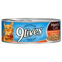 9 Lives Hearty Cuts with Real Turkey, Chicken & Cheese in Gravy Cat Food from Blain's Farm and Fleet