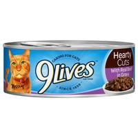 9 Lives Hearty Cuts with Real Beef in Gravy Cat Food from Blain's Farm and Fleet