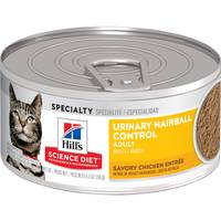 Hill's Science Diet 5.5 oz Adult Urinary Hairball Control Chicken Entree Cat Food from Blain's Farm and Fleet