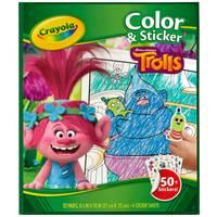 Crayola Trolls Color & Sticker Book from Blain's Farm and Fleet