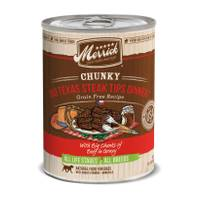 Merrick 12.7 oz Texas Steak Tips Chunky Dinner Dog Food from Blain's Farm and Fleet