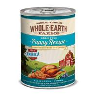 Whole Earth Farms 12.7 oz Grain Free All Breeds Chicken, Turkey, & Salmon Puppy Food from Blain's Farm and Fleet