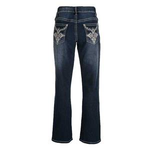 City Girl Country Girl Misses Dark Wash Regular Fit Cross Faux Flap Pocket Jeans