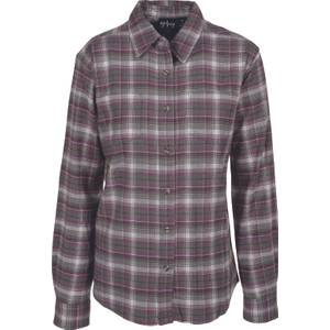 CG | CG Misses Olive & Purple Stretch Flannel Plaid Shirt
