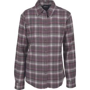 CG   CG Women's Olive & Purple Stretch Flannel Plaid Shirt
