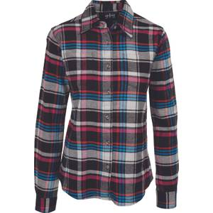 CG | CG Women's Black & Teal Stretch Flannel Plaid Shirt