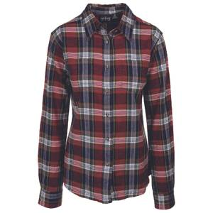 CG | CG Misses Dark Green Stretch Flannel Plaid Shirt