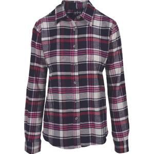 CG | CG Women's Black & Fuschia Stretch Flannel Plaid Shirt