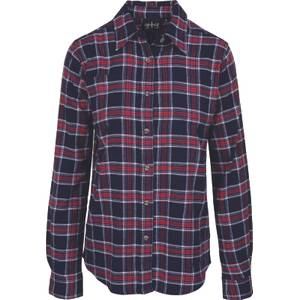 CG | CG Misses Navy & Red Stretch Flannel Plaid Shirt
