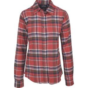 CG   CG Misses Dark Orange Stretch Flannel Plaid Shirt