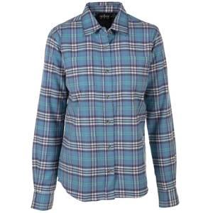 CG | CG Misses Teal Stretch Flannel Plaid Shirt