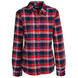 CG | CG Women's Red Stretch Flannel Plaid Shirt