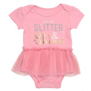 819da70c3 Baby Starters Baby Girls' Pink Just Add Glitter Bodysuit