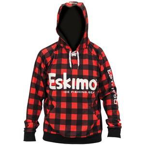 34903c6ca6813 Eskimo Men  39 s Plaid Red and Black Lace Hoodie