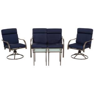 super popular 9c689 bb20f Prestige 5-Piece Swivel Conversation Patio Set with Cushions