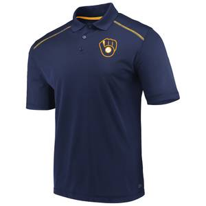 07f8ff10ca35 MLB Men's Short Sleeve Milwaukee Brewers Fan Engagement Polo