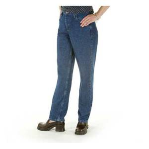 Riders By Lee Women's Stonewash Indigo Relaxed Straight Leg