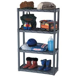 Plano 4 Tier Free Standing Utility Shelf