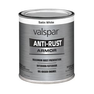 Valspar 1 Quart Anti Rust Oil Based Enamel Paint Color Satin White At Blain 39 S Farm Fleet