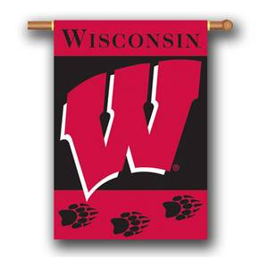 BSI Products University of Wisconsin Double Sided Outdoor Hanging Banner