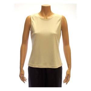 ALIA Misses Stone Sleeveless Microfine Rib Knit Shell