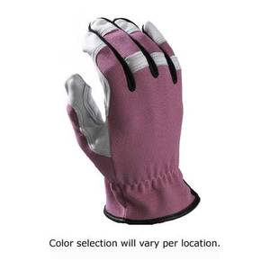 Work n' Sport Women's Style Brites Leather & Fabric Gloves