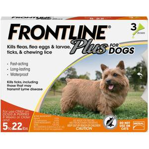Frontline Plus Flea and Tick Control Medicine for Dogs
