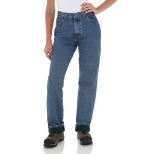 Wrangler Misses Rugged Wear Flannel Lined Jeans
