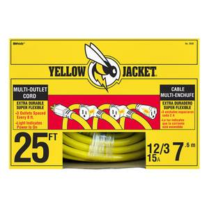 Yellow Jacket Multi - Outlet Extension Cord