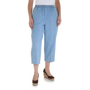Chic Misses Blue Fusion Denim Scooter Capri Pants