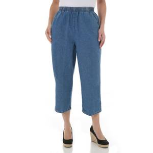 Chic Misses Destruction Blue Scooter Capri Pants