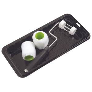 Shur-Line 4 Piece SHUR-FLOW Trim Paint Roller & Tray Set