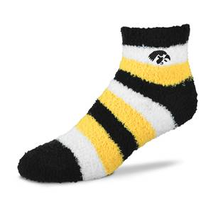 For Bare Feet Originals  Misses University of Iowa Striped Quarter Sleep Sock