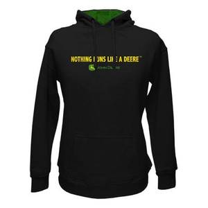 "John Deere Misses Black ""Nothing Runs Like A Deere"" Hoodie"