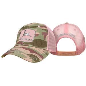 John Deere Women's Pink Camo Bling Tractor Girl Hat