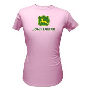 John Deere Junior's Pink Short Sleeve Logo T-Shirt