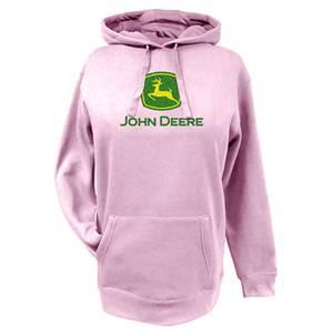 John Deere Misses Pink Glitter Logo Fleece Hoodie