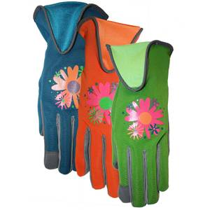 MidWest Gloves Women's Suede Palm Spandex Back Gloves