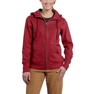 Carhartt Misses Dark Red Heather Clarksburg Zip-Front Sweatshirt