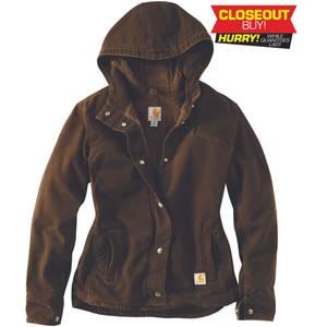 Carhartt Misses Dark Brown Sandstone Berkley Jacket