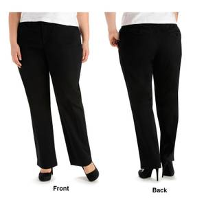 Lee Women's Black Comfort Waist Carden Straight Leg Pants