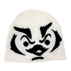 Collegiate White Wisconsin Badger Jacquard Beanie