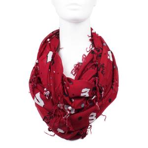 Collegiate Women's Red Wisconsin Inifinity Scarf