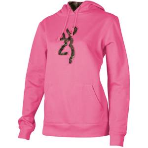 Browning Misses Fuchsia Buckmark Camo Hooded Sweatshirt